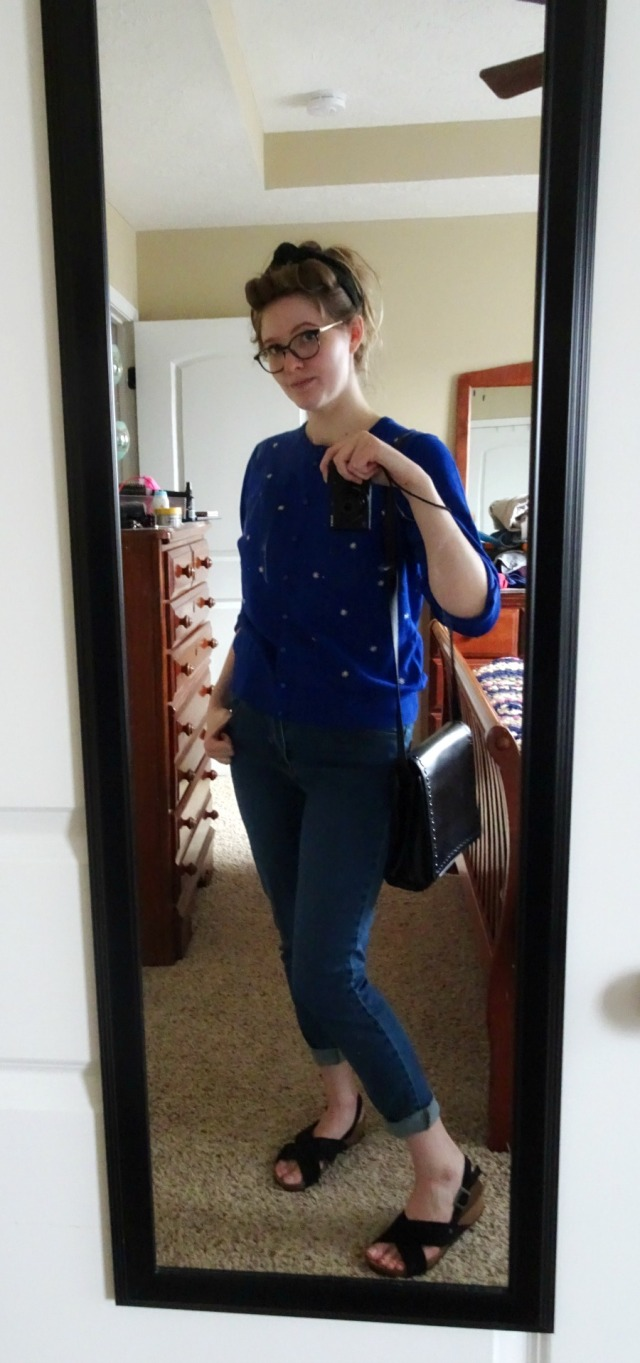 Casual Spring Outfit with saddle bag