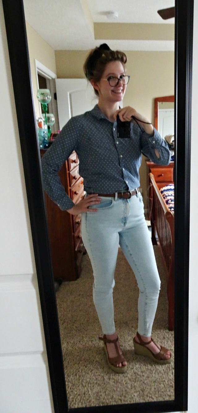Polka Dot Casual Spring Outfit